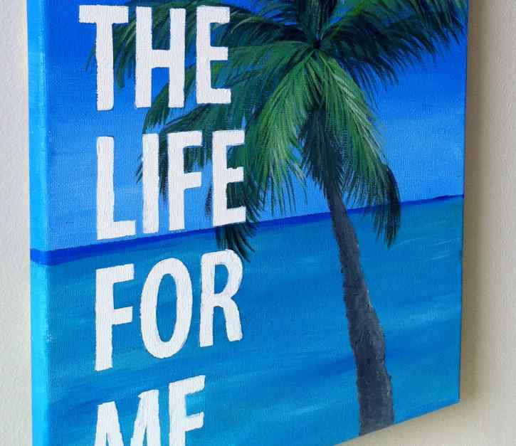 DIY- How to paint personalized quotes onto canvas
