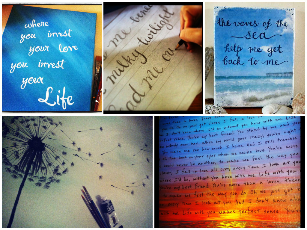 Learn how to paint quotes onto canvas!