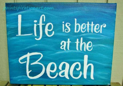 How to paint quotes on canvas