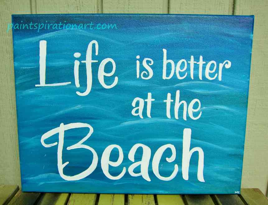 DIY- How to paint personalized quotes onto canvas ...