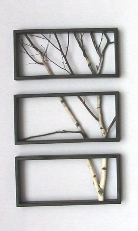 diy branch wall art