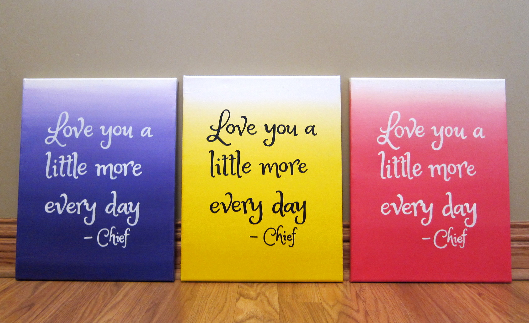 Quote Paintings How To Paint An Ombre Canvas Painting Diy  Paintspiration Art