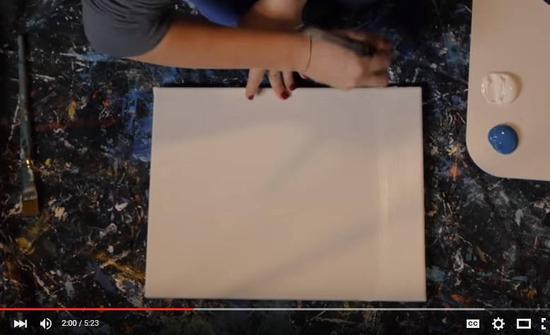 diy paint an ombre canvas painting