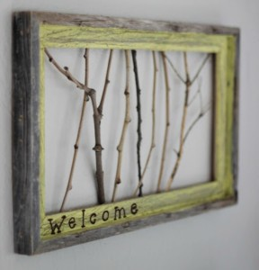 sticks welcome sign