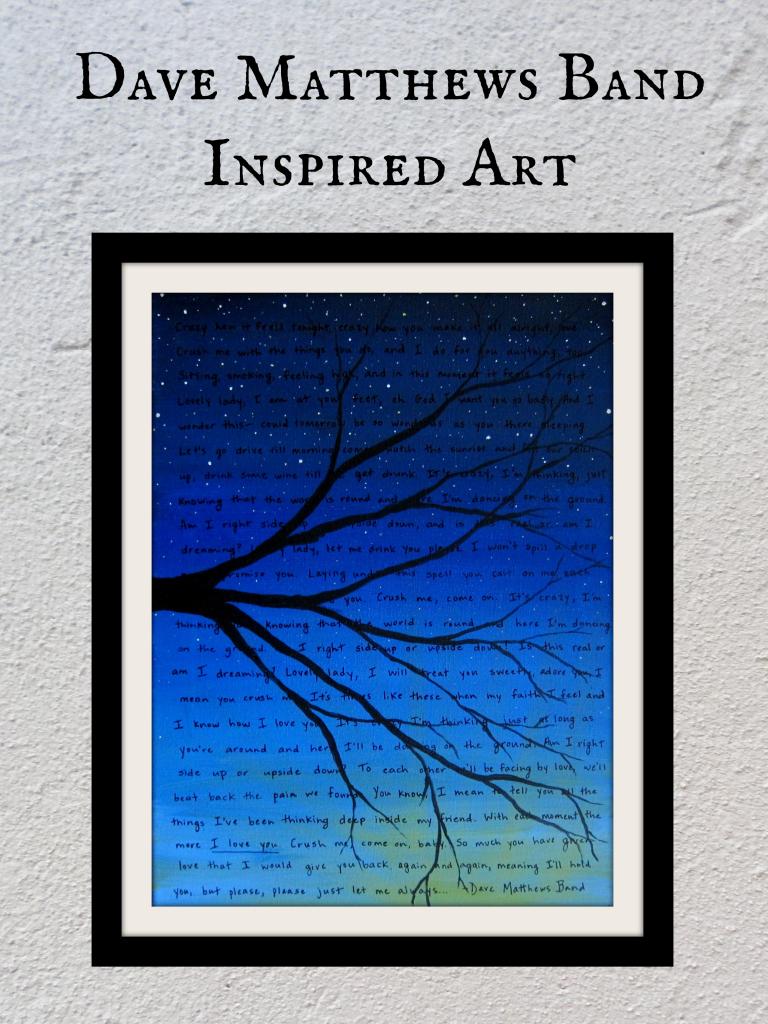 Dave Matthews Band Inspired Art