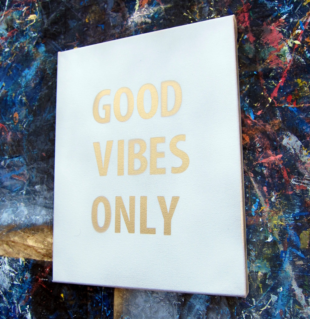 DIY Spray Paint Quote Canvas