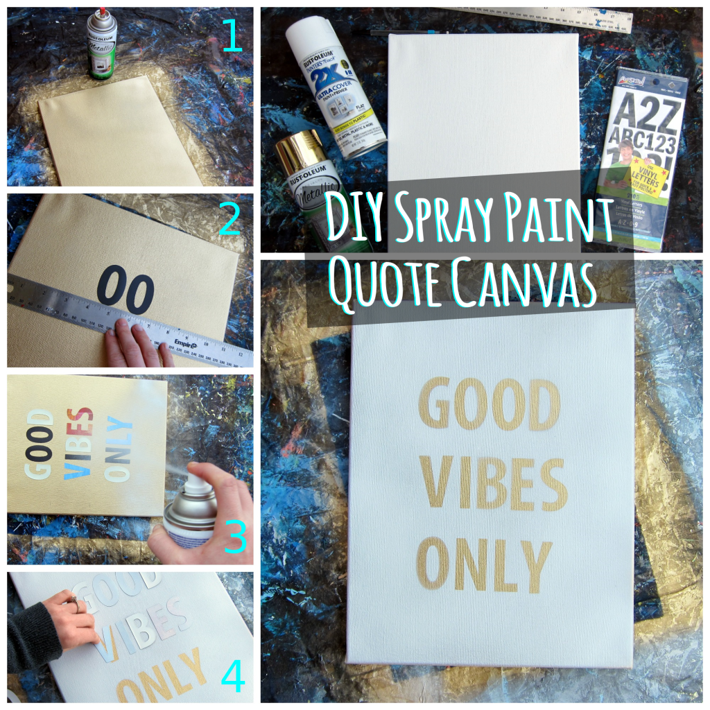 Canvas Spray Paint Ideas Part - 41: DIY Spray Paint Quote Canvas