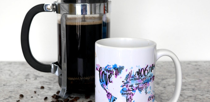 Love World Map Coffee Mug