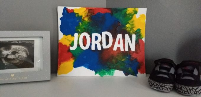 DIY Baby Name Painting